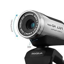 AUSDOM AW615 High Definition 1080P USB HD Webcam with