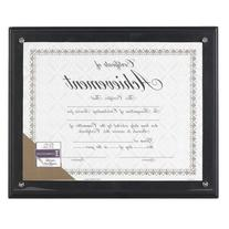 DAX Award Plaque, Wood/Acrylic Frame, Fits Up To 8.5 x 11