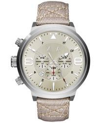 AX Armani Exchange Men's Chronograph Taupe Nylon Strap Watch