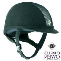 Charles Owen Ayr8 Riding Helmet All Black Size 7 1/8