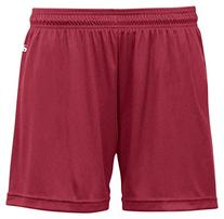 "Badger B-Core Girls 4"" Performance Shorts, Cardinal, Small"