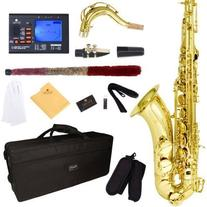 Mendini by Cecilio MTS-L+92D Gold Lacquer B Flat Tenor