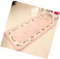 B00E1E35TY Rural Cute Rose Pattern Bedroom Carpet, Floral
