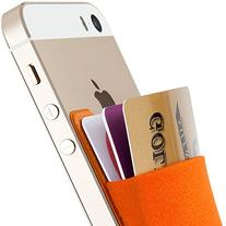 Card Holder, Sinjimoru Ultra-slim Adhesive Wallet iPhone