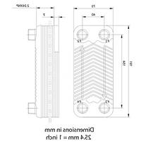 Duda Energy HX1230:M34 B3-12A 30 Plate Stainless Steel Heat