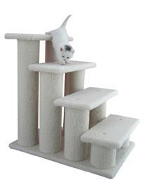 Armarkat B4001 Classic 4 Step Fleece Pet Steps