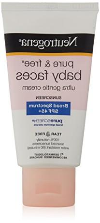 Neutrogena Pure and Free Baby Faces Sunscreen, SPF 45+, 2.5