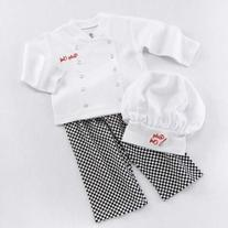 BA16010WT Big Dreamzzz Baby Chef Three Piece Layette In
