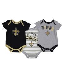 Outerstuff Babies' New Orleans Saints Field Goal 3-Pack
