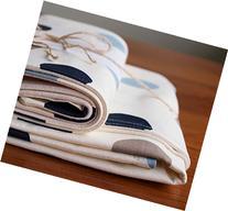 Organic Baby Blanket and Burp Cloths Gift Set, Blue Polka