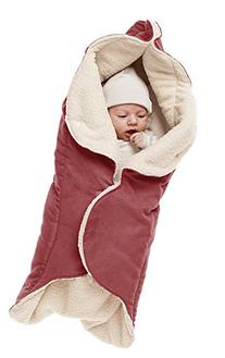Baby Blanket Cozy Faux Suede with Thick Shearling Lining,