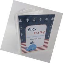 Baby Boy Photo Album 585 newborn nautical whale ahoy