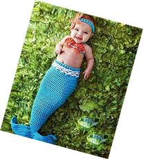 Pinbo Baby Crochet Knitted Photo Photography Prop Mermaid