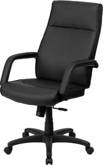 High Back Black Leather Executive Office Chair Memory Foam