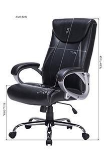 VIVA OFFICE High Back Task Chair, Bonded Leather Office
