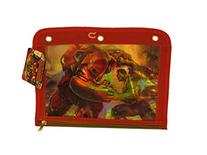 Back to School 3 Ring Avenger Pencil Bag and Pencils - Red