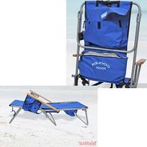 High Back Steel 5 pos. LayFlat Backpack Beach Chair Rio
