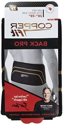 Copper Fit Pro Back Support, Black with Copper Trim, Small/