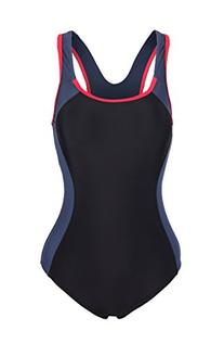 ReliBeauty Women's Backless Splice One Piece Swimsuit
