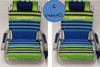 2 Tommy Bahama 2015 Backpack Cooler Chairs with Storage