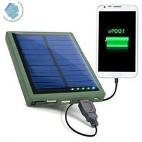 Backup Battery Solar Charger & Power Bank with Dual USB