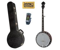 Dean Backwoods BW5 5-String Banjo with Case, Includes Tuner