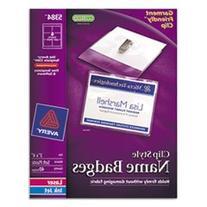 * Badge Holder Kit w/Laser/Inkjet Insert, Top Load, 3 x 4,