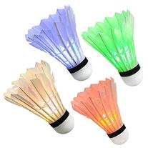 Ohuhu LED Badminton Shuttlecock Dark Night Glow Birdies