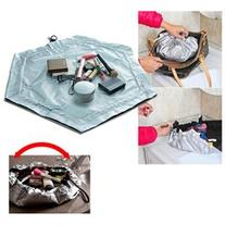2 In 1 Travel Cosmetic Makeup Bag Work Mat Pouch Case