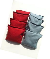 Standard Bags Color: Red and Light Blue Cornhole Bags