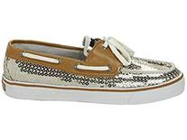 Sperry Women's Bahama 2-Eye, Gold Sequins-12