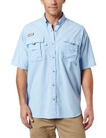 Columbia Men's Bahama II Short Sleeve Shirt, SAIL, Large