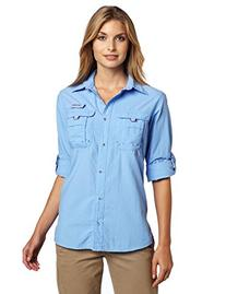 Columbia Women's Bahama Long Sleeve Shirt - White Cap Blue