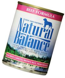 Natural Balance Ultra Premium Beef Canned Dog Formula, Case