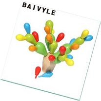 BAIVYLE Balancing Cactus -Inserted Removable Wooden Building