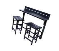 MIYU Furniture 3-piece Balcony Bar - Onyx