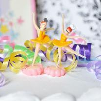 Ballerina Cake Topper  - Yellow