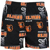 Baltimore Orioles Mens Black Oversized Fusion Boxer Shorts