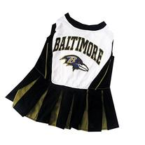Baltimore Ravens NFL Cheerleader Dress For Dogs - Size Small
