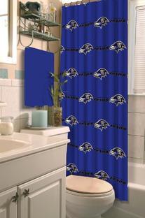 NFL Baltimore Ravens Shower Curtain Football Team Logo Bath