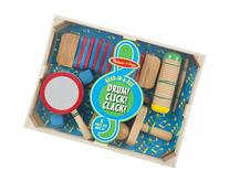 Melissa & Doug Band-in-a-Box Drum! Click! Clack! - 6-Piece