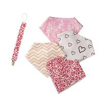 Baby Bandana Drool Bibs for girls, Pack of 4 Organic Cotton