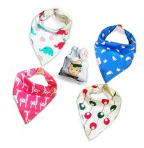 Baby Bandana Drool Bibs With Snaps For Girls - Super