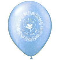 "11"" Baptism Dove Azure Balloons  Latex"