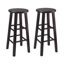 Winsome Bar Stool with Square Legs, 29-Inch, Espresso, Set