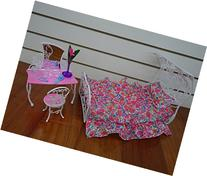 Barbie Size Dollhouse Furniture- Sweet Dream Bed Room Play
