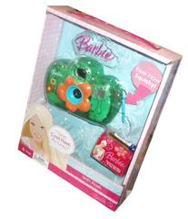 "Barbie Green Jelly Camera with Flash Plush 1 ""AAA"" Battery"