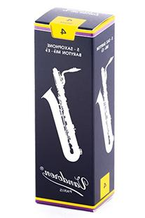 Vandoren SR244 Bari Sax Traditional Reeds Strength 4; Box of