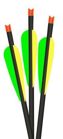 Green 3-Pack Lumenok 20-Inch Barnett Headhunter Equipped Crescent Bolt End