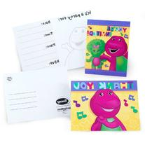 Barney Party Supplies Invitations and Thank You Notes - 8